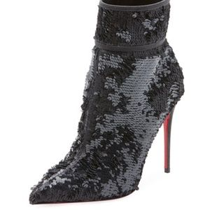 Christian Louboutin Moula Kate Sequin Boots